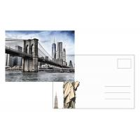 Best Custom Lenticular Postcard Printing 3d Depth New York City 4x6 Inch EU Standard wholesale