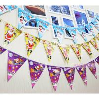 Cheap Customized Waterproof Advertising Flag Banners , Christmas Create Custom Flag Bunting for sale