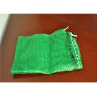 China Safe Plastic Mesh Produce Bags Woven Leno Net  For Packaging Onions And Potato on sale