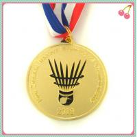 Best Engrave zinc alloy sports medal with ribbon and customer logo wholesale