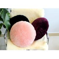 Best Short Wool Round Chair Cushions , Colorful Throw Pillows For Bed / Car wholesale