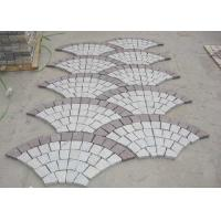Best Red Porphyry G603 Decorative Landscaping Stone Driveway Paving Stones Fan Shape wholesale
