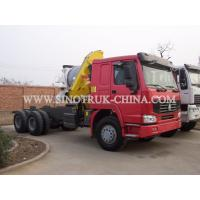 Best Reliable Truck Mounted Hoist / LHD 336HP Lorry Mounted Crane For Goods Lift wholesale