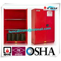 Best Safety Combustible Storage Cabinets , Flammable Storage Containers Double Doors wholesale