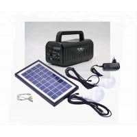 Best 6V Home solar power generator with mobile charging MP3 player radio speaker LED bulb working 23 hours wholesale