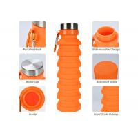 Best Collapsible Water Bottle, Reuseable BPA Free Silicone Foldable Water Bottles for Travel Gym Camping Hiking, wholesale