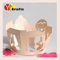 China Baby Favors Laser Cut Cupcake Wrappers , Ivory Cupcake Liners on sale