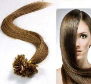 Best Female Brown U - Tip 100% Remy People Pre Bonded Hair Extension Kinky Curl wholesale