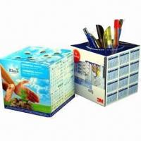 Best Promotional Pop-up cube Paper Pen Holders with Offset Printing wholesale