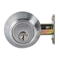 Cheap High Security SUS304 Single Cylinder Deadbolt Door Locks Plated Nickel Finish for sale