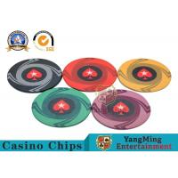 Best Round Plastic Ceramic Blank Casino Poker Chips Sets , Colorful Polyspectra Chip wholesale