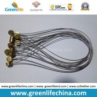Best Stainless Steel Wire Loop 15cm Length w/Clear Plastic Coated & Copper Cylinder OD9*T5mm wholesale