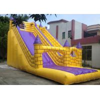 Best Flame Retardant Inflatable Bouncy Slide , Blow Up Slip And Slide Durable Zippers wholesale