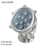 Cheap 9W Revolve angle outside IP68 LED Underwater light for park pool for sale