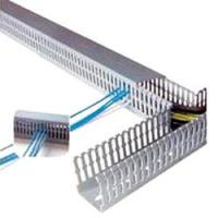 Cheap PVC Wiring Ducts, Electrical Plastic trunkings insulation corrosion resistance for school for sale