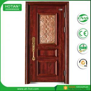Best Cheap Price Modern Entry Door Designs Steel Door Sunscreen Painting Exterior Door with 1cm Carved Pattern Aluminum Panel wholesale