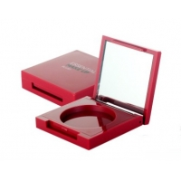 China Square Powder Compact Cheek 51mm 13mm Empty Blush Container on sale