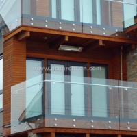 Customized Glass Decking Standoff Railing with Stainless Steel Handrail