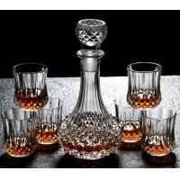 Best Diamond Design Whiskey Glass Bottle With Cups For Night Bar Offer Whiskey wholesale