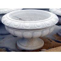 Best White Stone Garden Sculptures Carved Large Granite Flower Pots For Backyard Ornaments wholesale