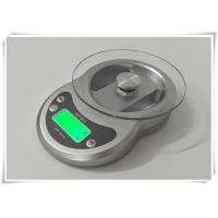 Best Timer Function Kitchen Weight Scale , Tempered Glass Platform Portable Food Scale wholesale