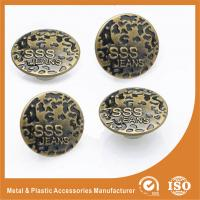 China Antique Brass Jeans Buttons Metal Magnetic Nickel Free Washable Round No Hole Screw on sale