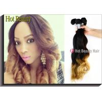Best Custom Colored Human Hair Extensions Body Wave Style Tangle Free wholesale