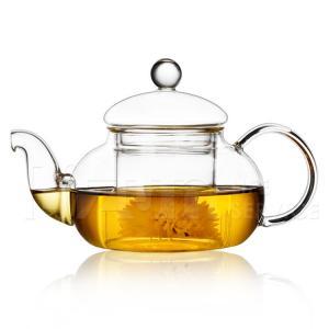 China 600ml glass flower tea pot high temperature resistant glass tea kettle on sale