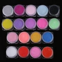 China 18 Color Acrylic Powder 3D Nail Art Manicure Nail Tips on sale
