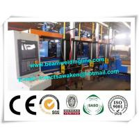 Quality H beam welding line for steel bridge , Steel construction bridge rib assembling and welding machine wholesale