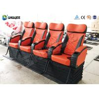 Best 110V / 220V / 380V Voltage 4D Cinema System With Red Mobile Seats wholesale