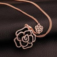 Best ELEGANT CLOTHING ACCESSORY GOLD PLATED FLOWER CRYSTAL PENDANT wholesale