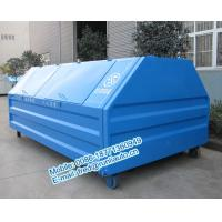 Cheap Inland factory supplied 7500 liters full sealed hooklift containers low price for sale