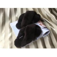 Best Sheep Wool Slippers Lambskin ladies cow leather slippers with sheepskin wool wholesale