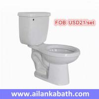Best hot sales promotion cheaper price 2 piece toilet S-trap 300mm roughing-in bathroom siphonic toilet wholesale