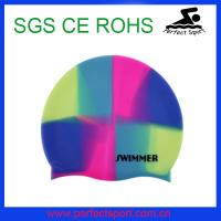 Best Arena mix color fashionable comfortable swim caps wholesale
