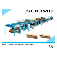 Best High Efficient Corrugated Cardboard Production Line Rotary Cutting Type wholesale
