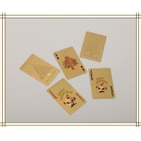 Best Christmas day gifts Custom Gold Playing Cards WITH Both sides wholesale
