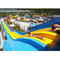 Best 4 / 5 Lane Custom Water Slides Highspeed Racing Slides For Giant Aqua Park wholesale