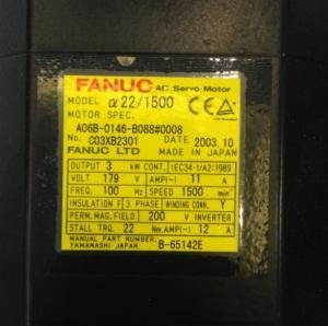 China A06B-0146-B088#0008 Fanuc AC Servo Motor A06B-0146-B088#0008 on sale