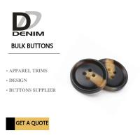 Buy cheap Fashionable Plastic Dress Bulk Buttons Brown & Black DTM Fabric Stock Size from wholesalers