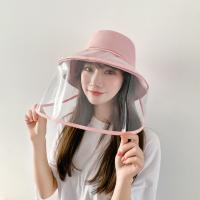 Best 2020 New Faceshield FIsherman Cap Outdoor Anti Droplets Protective Hat Transparent Full Face Shield Hat wholesale
