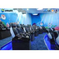 Best Midsize 4D Cinema System , Black and white Glass Fiber Reinforced Motion Chairs And Black Leather wholesale