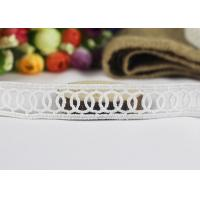 Best Milk Fiber Embroidery Water Soluble Thin Lace Ribbon For Cloth Chemical Circle Design wholesale