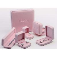 Best Lovely Velvet Lined Jewelry Box Pink Suede Eco Friendly For Jewelry Promotion wholesale