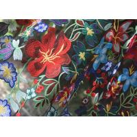 Best Polyester Multi Colored Embroidered Floral Lace Fabric For Haute Couture wholesale
