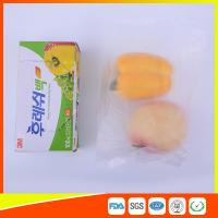 Best Transparent Fruit Packaging Zip Top Freezer Bags Plastic HDPE / LDPE Material wholesale