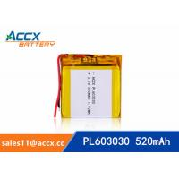 Best 603030 3.7v 520mah lithium polymer battery for bluetooth speaker with PCM protection wholesale