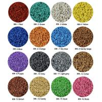 Cheap Sulphur Cured EPDM Rubber Granules , Customized Athletic Tracks Coloured Rubber for sale