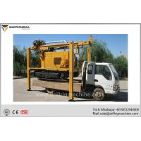Best Crawler Mounted Water Well Drilling Rig With Air Compressor / Mud Pump wholesale